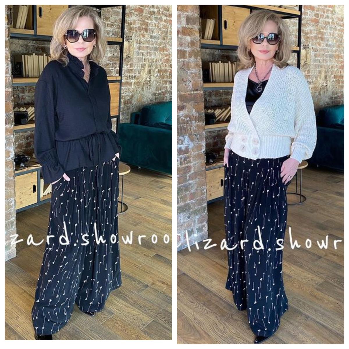 Фото 10, 11 - брюки палаццо + блуза.