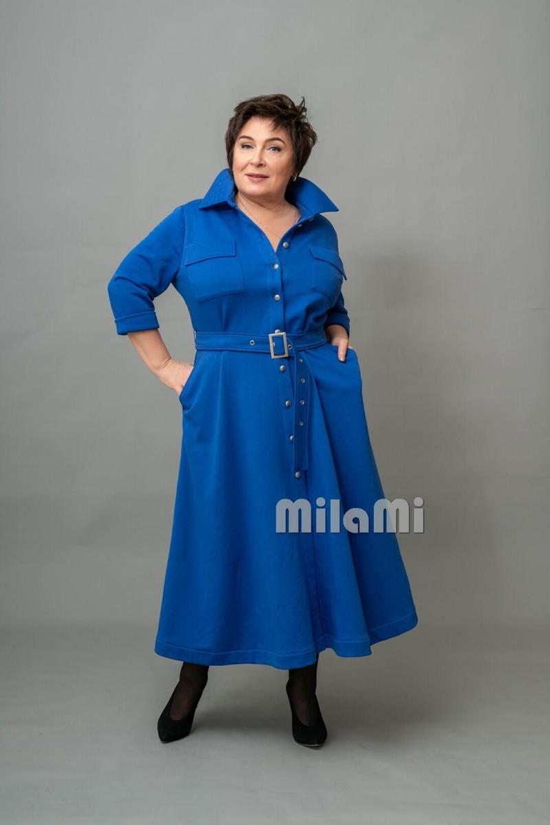Фото 3 - платье - рубашка цвета электрик.