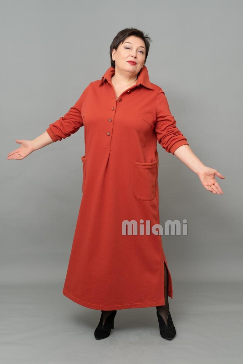 Фото 4 - платье терракотовое, МилаМи.