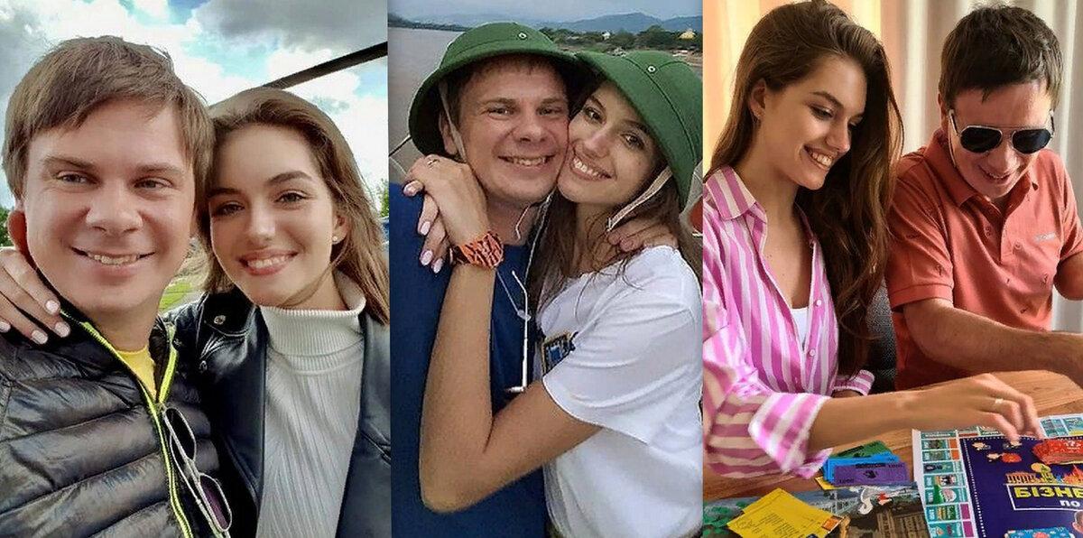 Дмитрий и Александра, фото с официальной страницы Инстаграм. Коллаж автора.
